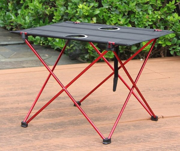 Outdoor folding table and chair aluminum alloy portable table light double double Oxford camping barbecue picnic table.