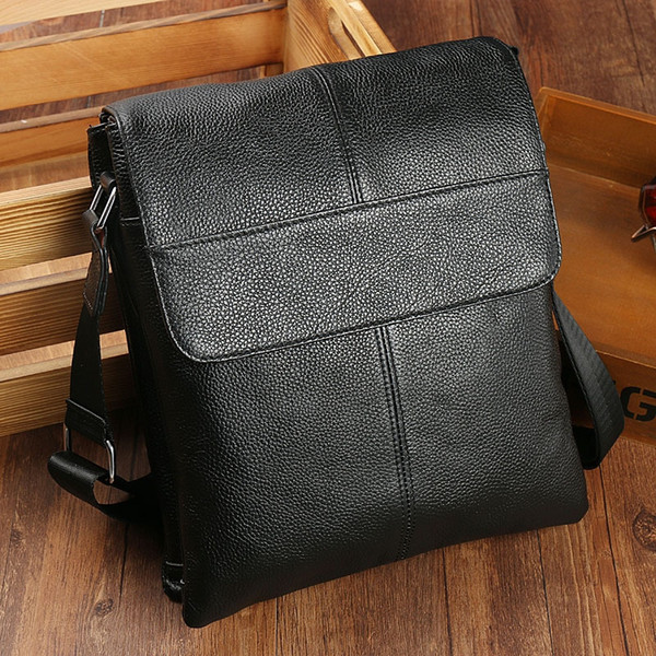 Real Leather Bag Men Briefcase Maletin Hombre Portfolio Work Bag Business Brief Case Thin Small Shoulder Bolso Hombre Cover #251563