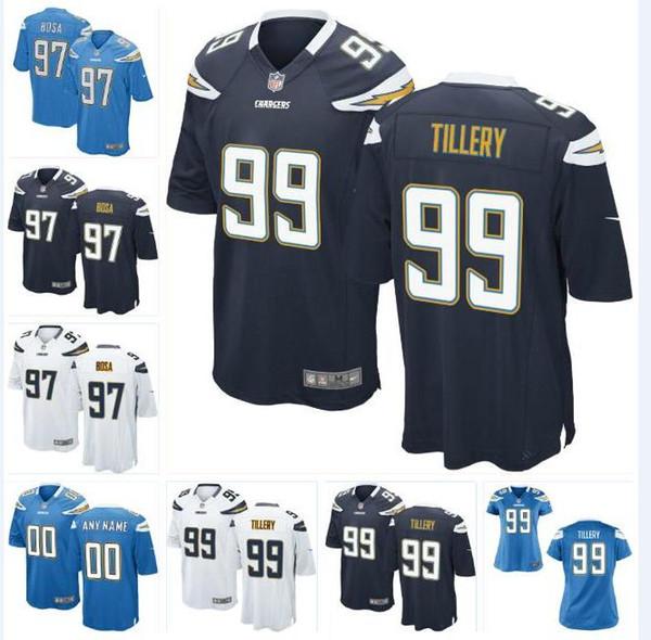 online retailer 62e6d 84bc8 2019 99 Jerry Tillery Joey Bosa Chargers Jersey Emeke Egbule Cortez  Broughton Junior Seau Jason Moore Custom American Football Jerseys Shirts  4xl From ...