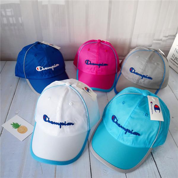Çocuk Hip Hop Beyzbol Şapkası mektup Yaz Çocuklar Güneş Şapka örgü erkek kız snapback LJJK1690 Caps