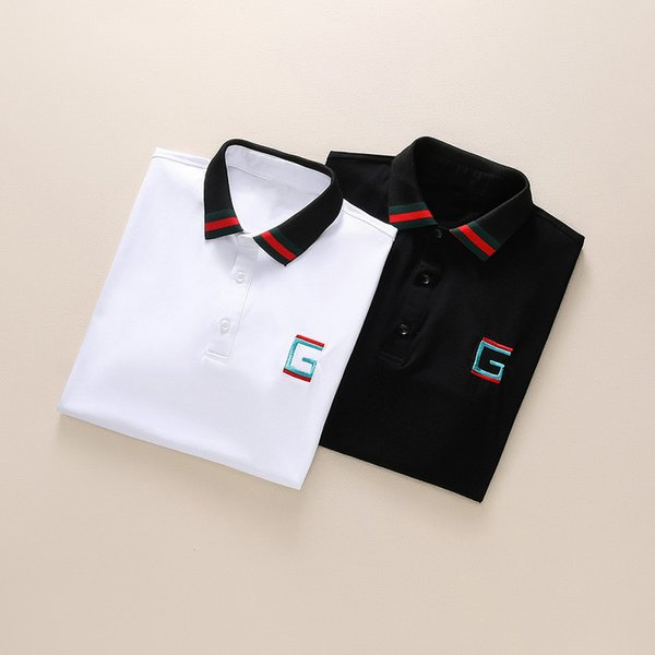 2019 New Luxury Summer Polo Shirts for Men Women Brand Casual Men Designer Print Tee High Quality Top Cotton Blend 11 Color M-3XL