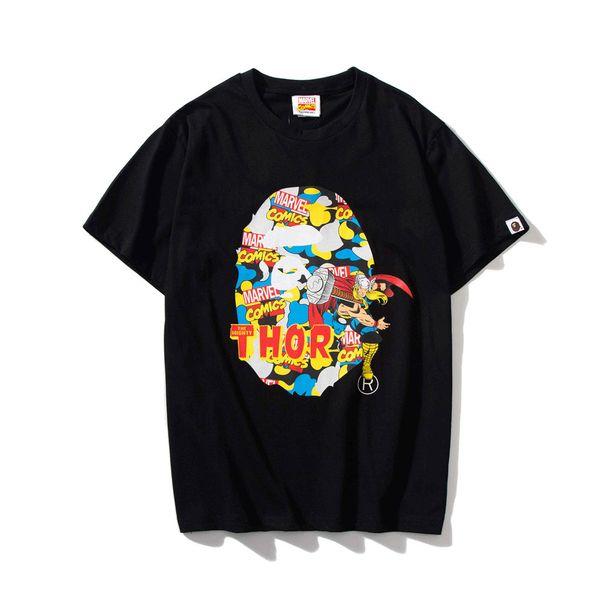 Camisetas de diseñador de moda para hombre Camiseta de verano de Marvel The Avengers Marca Camiseta Casual Tops Camisetas de lujo