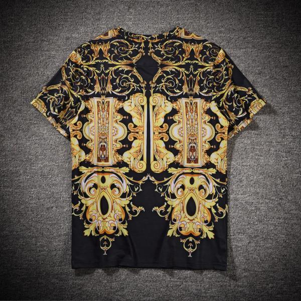 Мужская Дизайнерская Футболка Top Brand Летняя Мода Мужчины Фирменная Печатная Рубашка С Коротким Рукавом Плюс Размер M-3XL