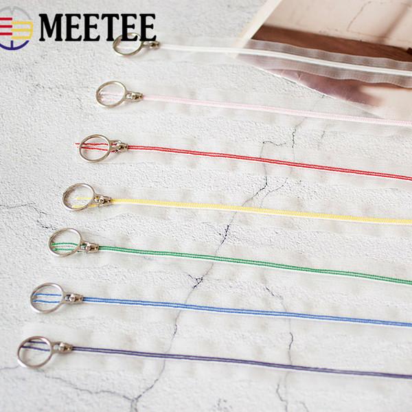 Meetee 3 # 25cm Cremalleras de nylon Transparente Cierre de bobina Zip Bolsas de sastre DIY Costura de prendas de vestir Artesanía Accesorios de ropa A4-3
