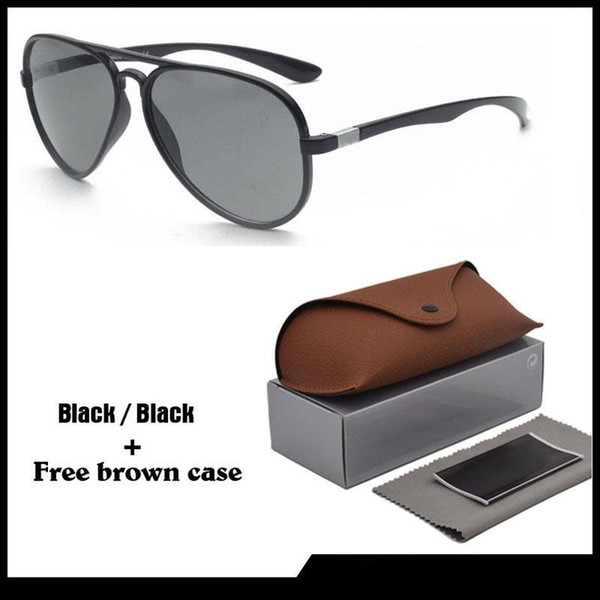 High quality Brand Designer Sunglasses for Men women with Leather brown cases Classical Sun glasses uv400 Goggle