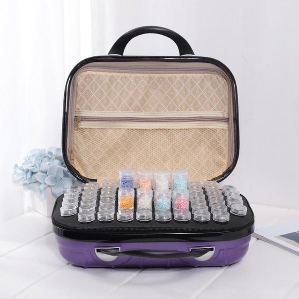 132 Bottles Diamond Painting Box Fashionable Atmosphere Graceful and Beautiful Beads Embroidery Jewelry Nail Case Container CJ191128