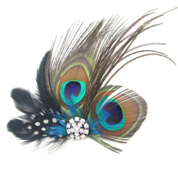 Best Sale Cute Peacock Feather Hair Clip wholesale clip human hair clip folder