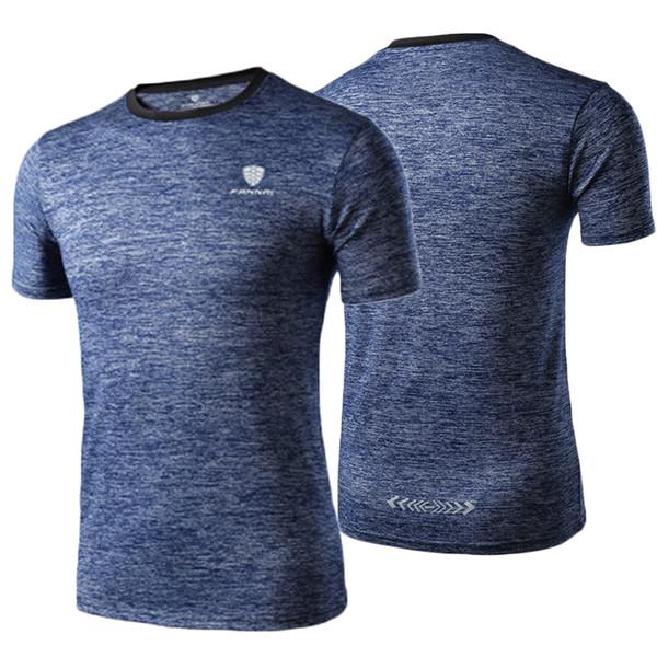 Acquista Sports Fitness Abbigliamento Sportivo Da Uomo Active Running T Shirt Maniche Corte Quick Dry Training Camicie Uomo Gym Top Tee Abbigliamento