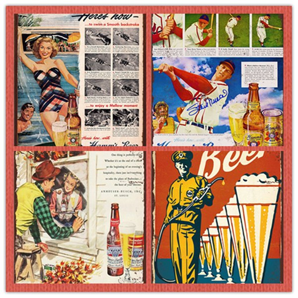 Drink Beer Free Beer Vintage Tin Signs Retro Advertising Metal Plate House Cafe Bar Rustic Club Shop Wall Poster Home Decor hot sale