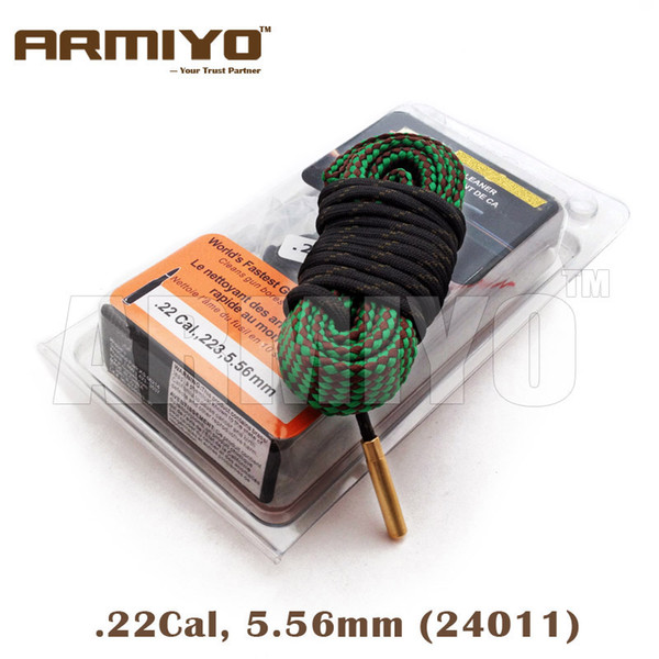top popular Armiyo .22Cal 5.56mm Gun Bore Cleaning Brush Snake Rifle Barrel Cleaner Sling Kit 24011 m4 Hunting Accessories 2020