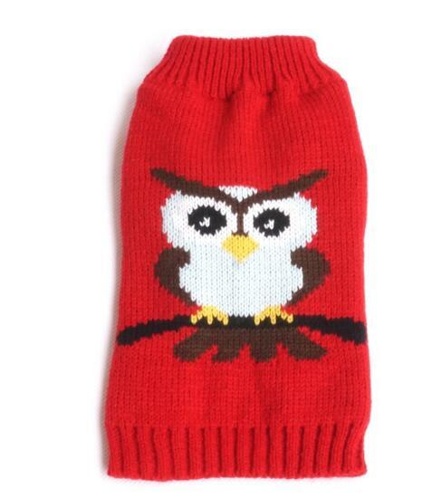Owl sweater, Teddy dog clothes, spring and summer clothes are better than bear dog and puppy clothes.