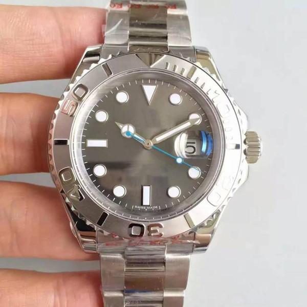 2018 роскошные нержавеющей Oyste-устрица браслет мода 40 мм серое лицо мужские часы 116655 спорт Мужчины автоматическое движение часы бесплатная доставка