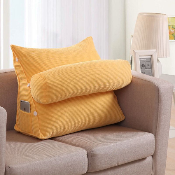 Large Sofa Cushions Triangular Backrest Cushion Living Room Pillows Bed  Rest Pillow Back Support Almofada Chair Cushions 60KD013 Exterior Cushions  ...