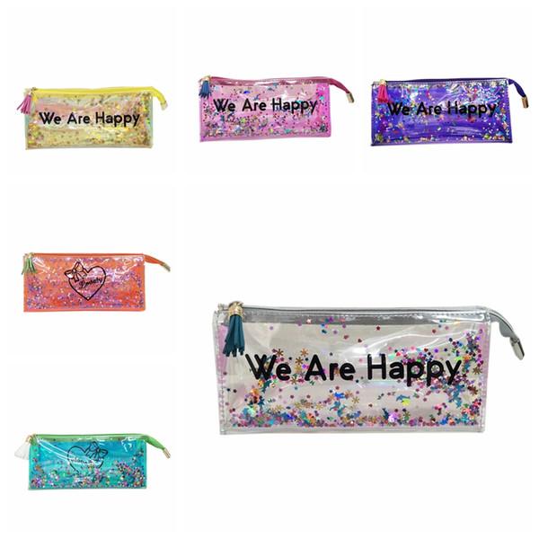 Laser transparentes composição Bolsas Cosmetic Bag Tassel laser portátil de grande capacidade de suspensão de Higiene Pessoal Wash Bag Cosmetic Bags GGA2864