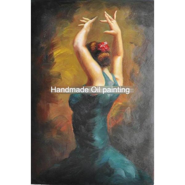Modern art paintings dancing girl Spanish-Flamenco-Dancing-Oil-Painting hand-painted home decor