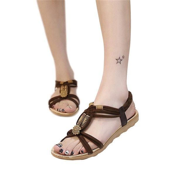 Flat Heel Brown