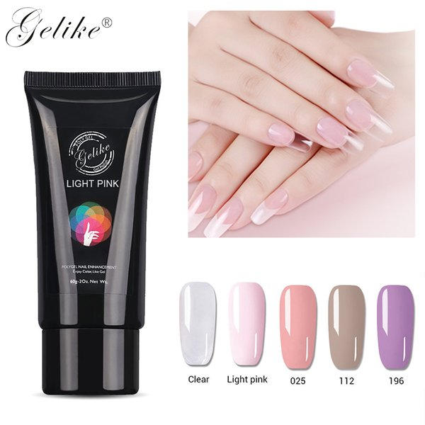 Gelike 60g Nail Art Poly French Constraction Builder Jelly Brush Acrylic Slip Clearnser Plus Remover s