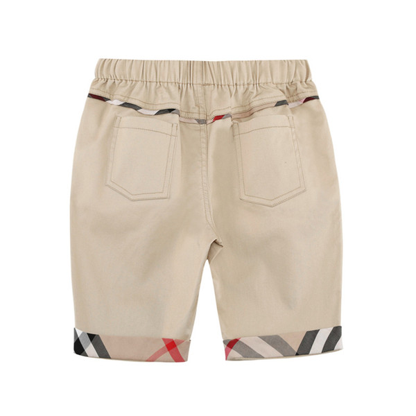 Designer Shorts for Boys 2019 Summer Brand Fashion Solid Color Shorts Casual Plaid Pattern Pants Luxury Campus Style Clothes
