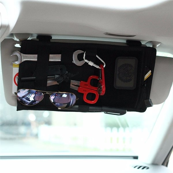 Hunting Tactical Molle Vehicle Visor Panel Pouch Car Sun Visor Organizer CD Sun Glasses EDC Holder Bag Auto Accessories #840595