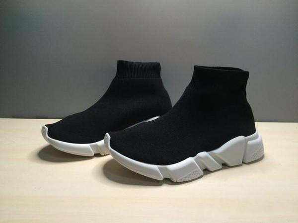 Chidren Lüks Çocuk Çorap Ayakkabı Rahat Hız Eğitmen Yüksek kalite Sneakers Hız Eğitmen Çorap Yarış Koşu siyah Kırmızı Mavi Sarı Ayakkabı 25-35