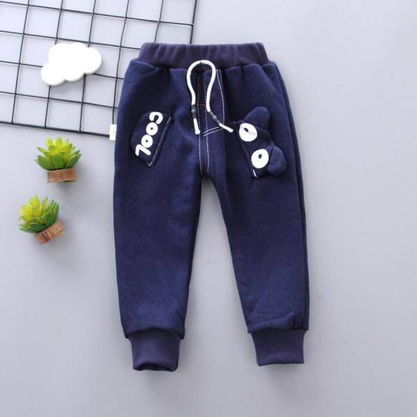 good qulaity baby boys pants autumn winter warm infant children cartoon fleece velvet trousers cotton toddle kids sport clothes