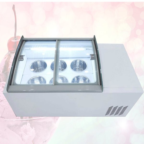 top popular 190W High quality New ice cream display cabinet commercial freezer for cold drinks shop store supermarket ice cream display cabinet 2020