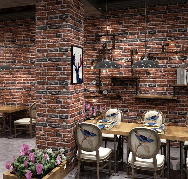 Großhandel Stein Tapeten Wand Tapeten Ziegelstein Wand Tapete Der  Ziegelstein 3D Der Wand Moderne Tapete Wand Tapeten Graues Für Wohnzimmer  Gestapelt ...