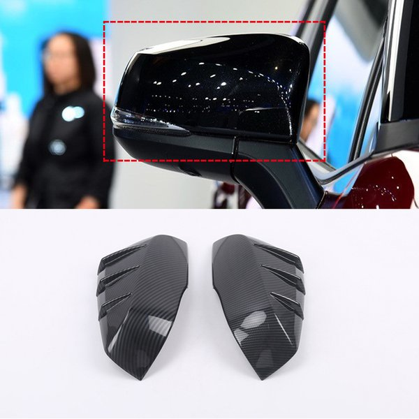 for Toyota RAV4 XA50 2019 2020 ABS PLASTIC Accessories Exterior Rear Mirror Rearview Cover Trim 2pcs