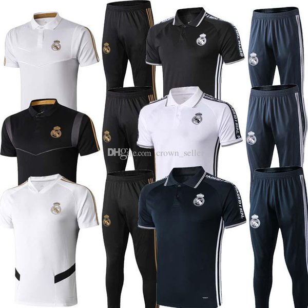 2019 Real Madrid HAZARD Short sleeve polo shirt soccer training suit 19 20 RONALDO MODRIC BALE ASENSIO ISCO football shirt kit tracksuit