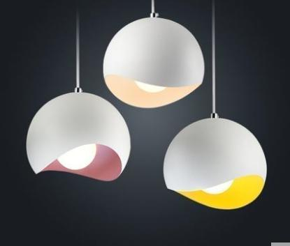 Colour dining room chandelier ins modern simple single headed three-headed lamps iron art Nordic art personality creative lights