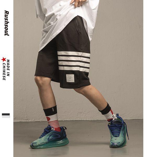 Été de nouveaux hommes occasionnels shorts de coton de la marque de marée 19ss jeunes lâches rue shorts simples modèles hommes et femmes