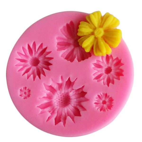 Silicone Sunflower Shaped Fondant Molds Pure Color Diy Cake Moulds Decorative Chocolates Mold For Baking Tools 1 4yxa E1