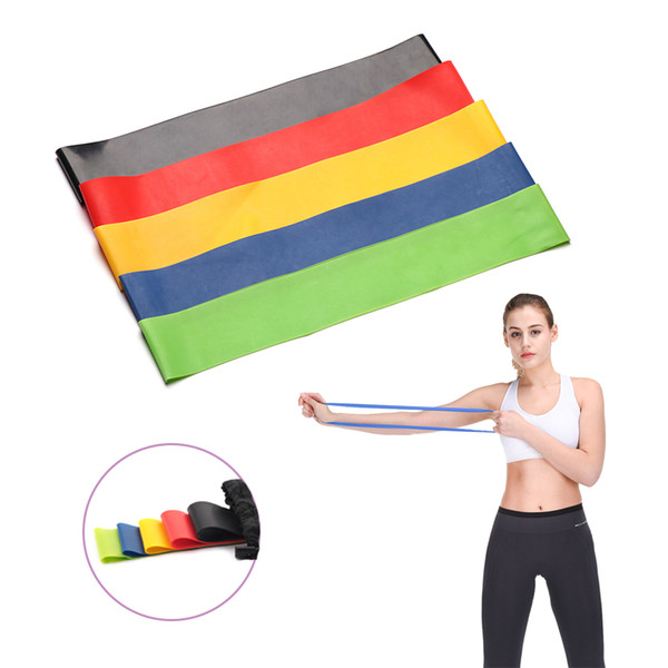 5 Colors Yoga Resistance Bands Indoor Outdoor Fitness Equipment Pilates Sport Training Workout Gym Exercise Latex Rubber Loop Elastic Band