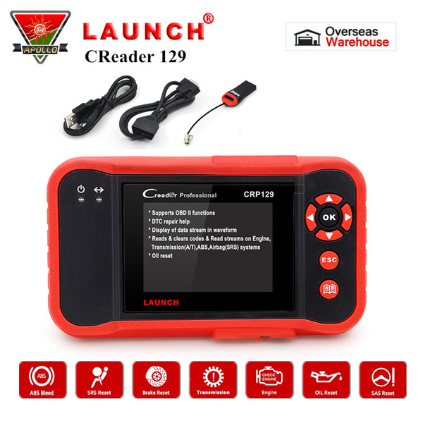 Launch CRP129 OBD2 Code Reader X431 Creader 129 Auto Car Scanner Diagnostic Tool OBDII Free Update pk VIII NT614