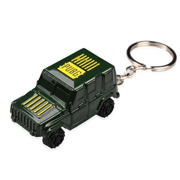 Hot Game PUBG Alloy Pickup Jeep Vehicle Wheel Scroll Keychain High Quality Key Ring Holder Of Game Lover Key Chain Gifts
