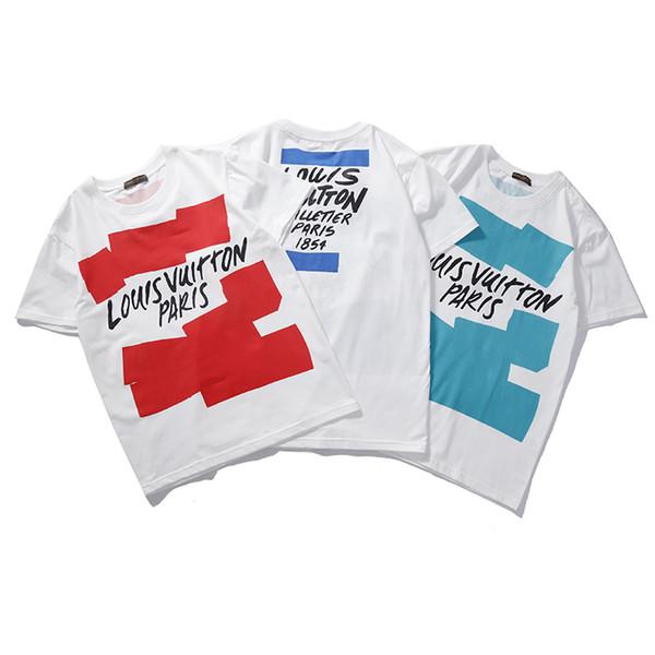 Qn820 2019 Frühjahr neue Farbe Hawaii Mode Flut Baumwolle T-Shirt T-Shirt Herren T-Shirt