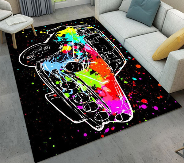 Doormat Red Colorful Car Graffiti Cool Living Room Area Rugs Children's Room Cushion Bedroom Floor Carpets Bathroom Non-slip Mat