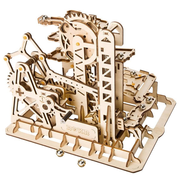 2019 Marble Run Game Diy Tower Roller Coaster Wooden Model Building Kit Assembly Toy Gift Child Adult Lg504 From Kareem11 70 11 Dhgate Com