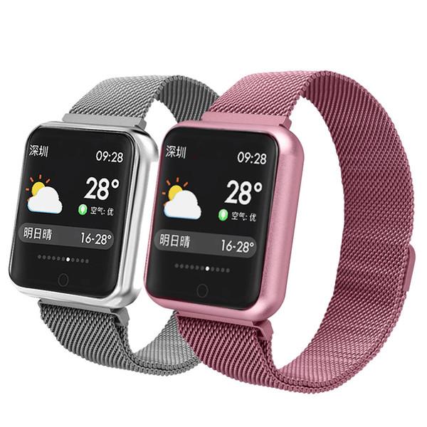 Apple iphone P68 için YENI Akıllı Spor Bilezik Spor Izci telefonu Izle Su Geçirmez Nabız Bileklik