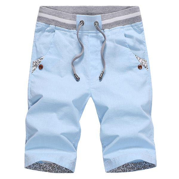 Плюс Размер Удобные Хлопковые Шорты Мужчины Повседневная Свободная Шнурок Пляж Короткие Masculino Летняя Одежда Азиатский Размер Erkek Сортировать 3 #