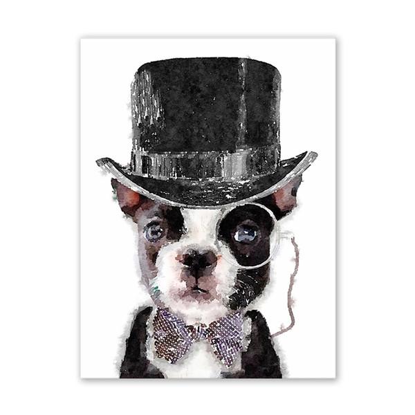 Estilo europeo y americano caballero perro pintura aerosol pintura núcleo decoración del hogar sin marco pintura núcleo moderno estilo decorativo poste