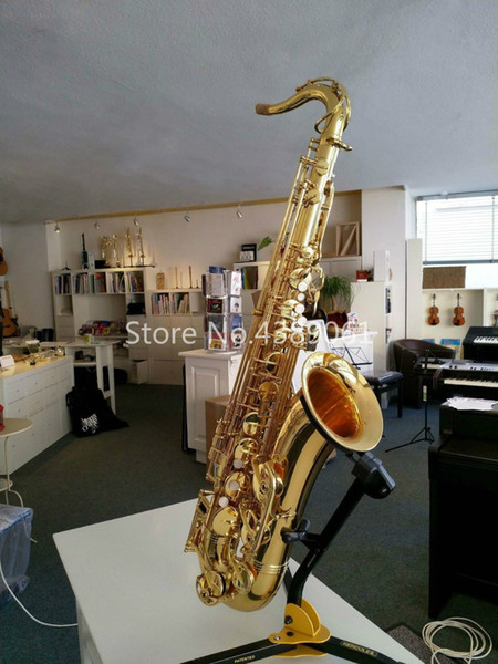 JUPITER JTS-1187 Brass Saxophone Bb Tenor Gold Lacquer High Quality Musical Instrument Sax With Case Accessories Free Shipping