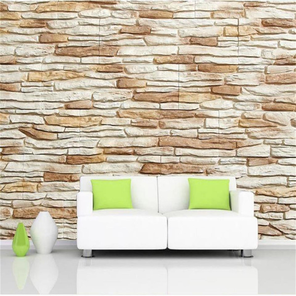 Custom Size 3D Photo Wallpaper Living Room Mural Stone Wall 3D Picture Painting Sofa TV Backdrop Mural Home Decor Creative Hotel Wallpaper