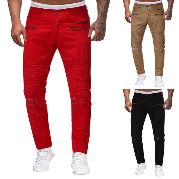 2019 Erkek Pantolon Erkek Koşucular Katı Pantolon Erkekler Rasgele Jogger Dans Sportwear Baggy İnce tasarlanan Pantolon Pantolon Sweatpant M-2XL
