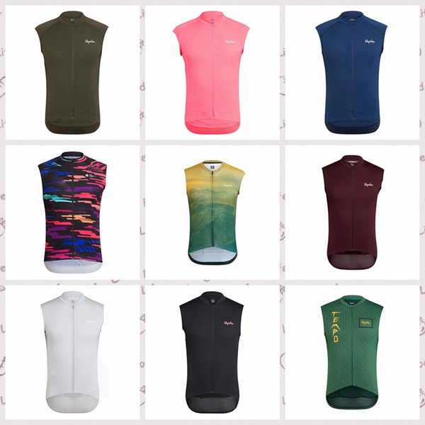 RAPHA Cycling Sleeveless jersey Vest Tops Summer Style For Men Bike Wear Bicycle Breathable quick dry Clothing camisa de ciclismo Q60426