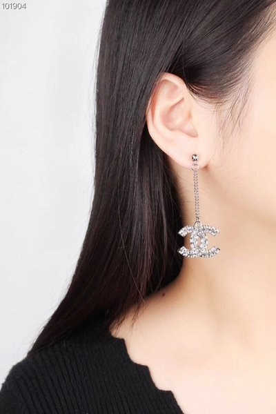 top popular vintage fashion women crystal earrings designer jewelry women earrings Double sided drill Long earrings 925 silver needle not allergic 2019