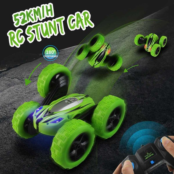 wholesale RC 4WD 2.4GHz High Speed Remote Control Off-road Toy 360Degree GR Rotate Stunt Car Double Motors Drive Bigfoot Cars Vehicle