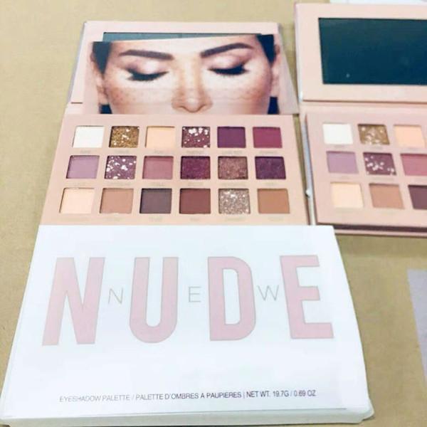 Hot NEW NUDE 18 couleurs fard à paupières Shimmer Matte paupières Beauté Maquillage Palette Fard À Paupières 18 couleurs Marque Livraison gratuite En stock