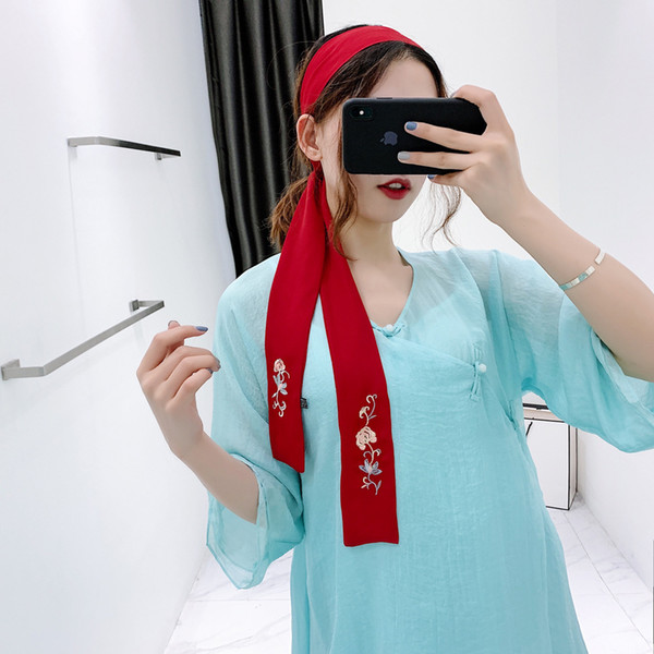 top popular 2020 new scarf traditional China Suzhou handmade embroidery scarf wholesale Bandanas for women 150cm hot sale 2021