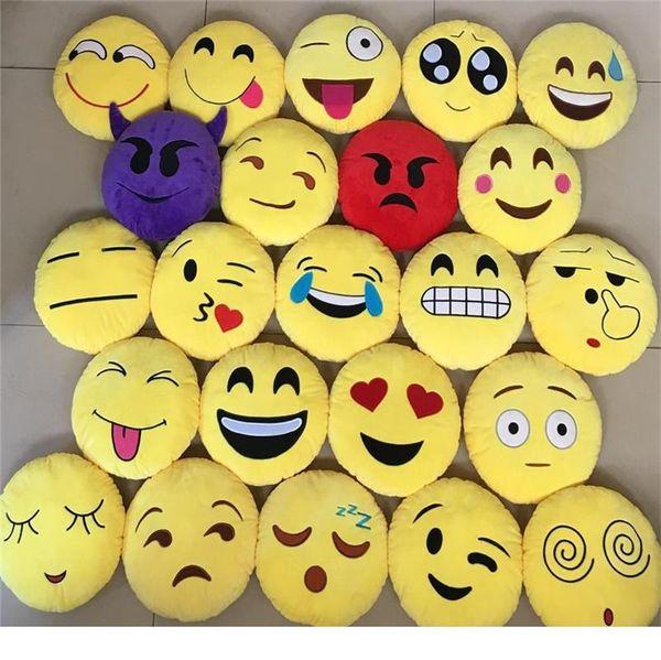 Acheter Multi Styles Oreiller En Peluche 35cm Mignon Emoji Smiley Oreillers Caca De Dessin Animé Coussin De Merde Coussins Oreiller Rond En Peluche